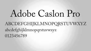 Adobe Caslon