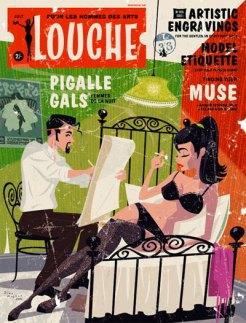 pastiche of 50s pulp mag